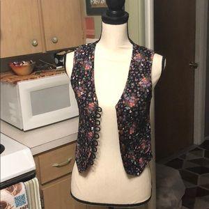 TopShop Floral Vest